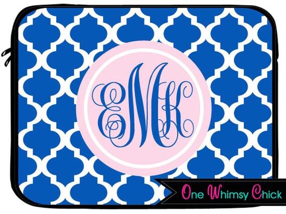 monogram laptop case macbook air case mac book pro sleeve custom with name or monogrammed