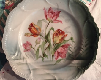 Vintage Tulip Decorative Plate Made in Germany #3248
