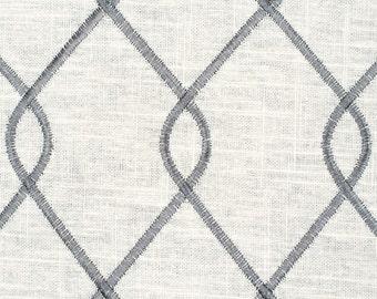 Embroidered Rico Grey lattice decorative pillow cover