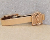 Golfer Tie Clasp, Vintage Tie Clasp, Gold-filled, Gift for Him
