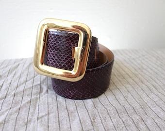 Vintage Purple Reptile Belt J