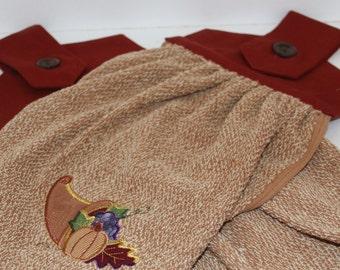 Hanging Kitchen Towels Set of 2 Fall Cornucopia
