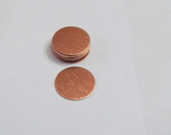 3/4 Copper disc  22 gauge -Copper blanks - Hand stamping metal blanks