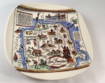 Vintage Royal Pottery Collectors Plate - San Francisco, CA (White)