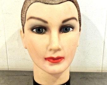 vintage head mannequin - 1980s Burmax Debra Manikin hat form mannequin head
