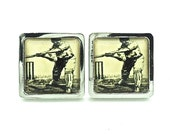 Cricket Cufflinks - Vintage Tone Image - Cricket gifts for him