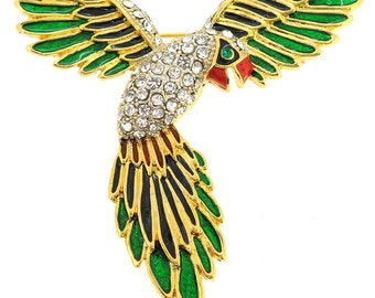 Green Parrot Pin Brooch 1004911