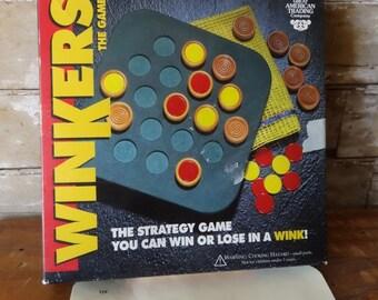 Vintage Cribbage Winkers Game Board 1980's