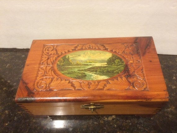Reserved Vintage Cedar Jewelry Box