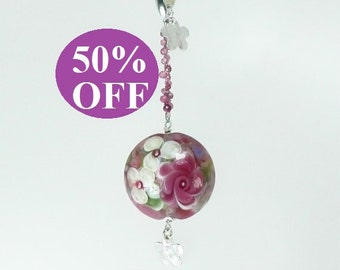 NOW 50% OFF - Pendant featuring ETSY Artist Lampwork Bead