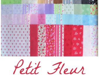 """5"""" charm pack Petit fleur 2015 from Lecien 42 pieces precut set"""