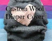 Upcycled Wool Diaper Cover Custom Order choose your own color wool