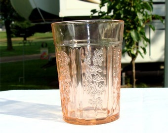 SHARON Pink Depression Glass TUMBLER Federal Glass Co.