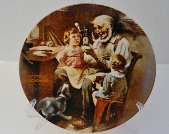 The Toy Maker First Plate Rockwell Heritage Collection Knowles Norman Rockwell No COA