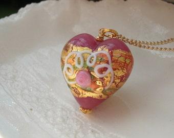Huge Venetian Murano Glass Necklace