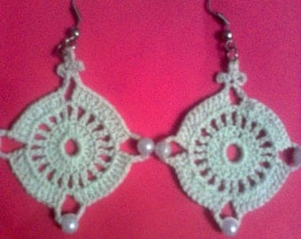 "Crocheted Earrings ""Magi"""