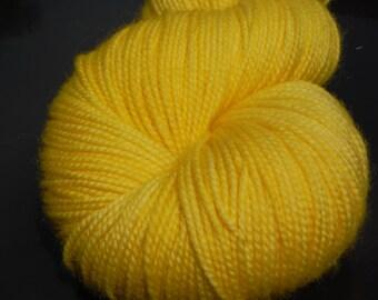 Merino/Cashmere/Nylon Jumbo High Twist Special Delivery Sock Yarn  600 yds-Morning Sunshine