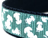 Sample Sale, Lots of Puppy Tails Dog Collar, 1 inch width, Big Dog Collar, Size Large Available, Ready to Ship
