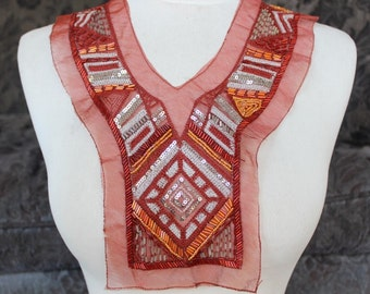 Cute     embroidered  applique with  sequence    1 pieces listing