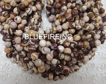 10mm 38 pcs beads round Faceted Chocolate Jasper in Full strand