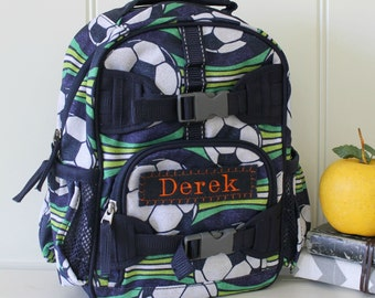 Baby Backpack Pottery Barn (Mini Size) -- Blue/Green Soccer