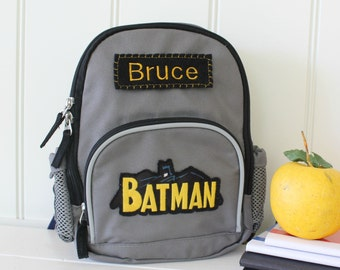 Backpack With Monogram Pottery Barn (Mini Size) -- Batman