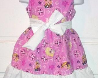 Sleeveless Summer Dress Disney Princess Frozen Anna Elsa Sparkle Boutique 12/18M 24M/2T 3T/4T 5/6 Pageant New