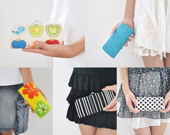 Pick Your Own Fabric - Small round clutch - Sunglasses / Eyeglasses case - Gift ideas