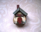 Quaint Shabby Cottage Rustic Hand Painted Victorian Tole Rosevines OFG Team Home Decor OOAK Garden