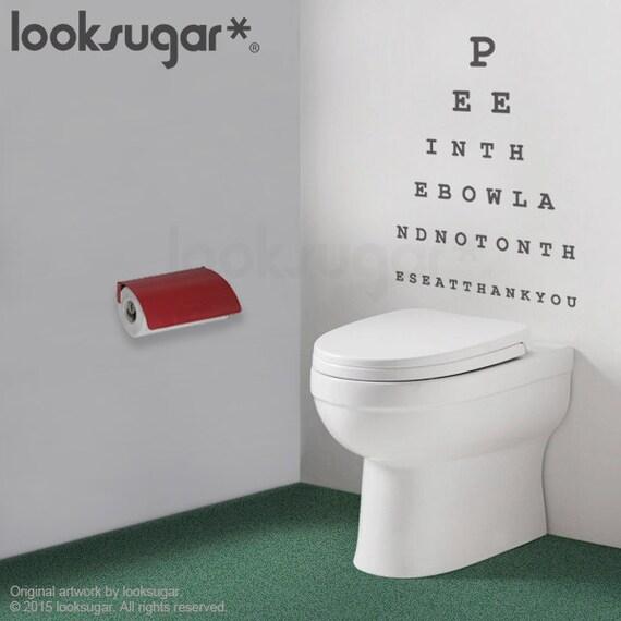 Original Looksugar Eye Chart Decal Bathroom Wall Sticker