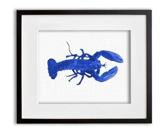Lobster Watercolor Art Print Wall Art 8x10 or 11x14