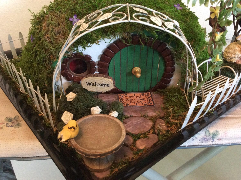 Hobbit Hole Fairy House Garden Dollhouse Lotr Custom Order