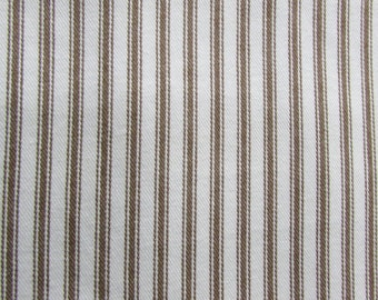 CLASSIC TICKING  Chocolate and White multipurpose fabric
