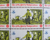 Drummer Boy Full Sheet of 50 Vintage UNUsed US Postage Stamps 8c 1973 American Bicentennial New England Patriots Colonial Save the Date MA
