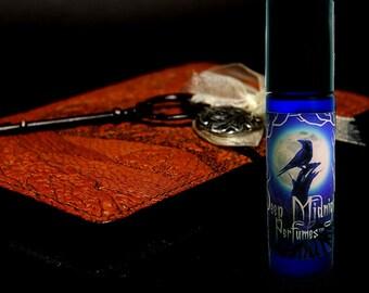SECRET JOURNAL Perfume Oil - Aged Leather, Exotic Sandalwood, Blood Orange, Vanilla - Artisan Perfume