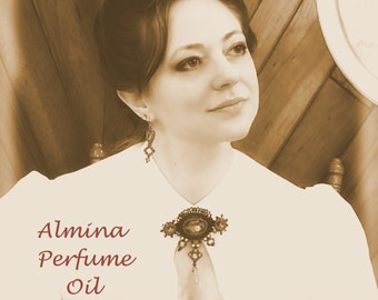 ALMINA Perfume Oil - Violets, Tuberose, Leather, DOWNTON ABBEY inspired - Edwardian Perfume