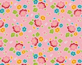 Bloom and Bliss Pink Main by Nadra Ridgeway of Ellis & Higgs for Riley Blake, 1/2 yard