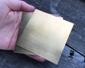 Nu Gold Jewelers Brass Sheet 26, 24, 22, 20, 18, 16 Gauge 3 x 3 inches Jewelry Supplies Jewelry Findings