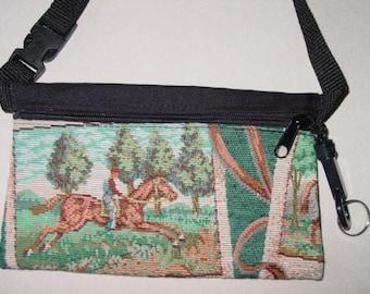 Tapestry Horse Tapestry Travel-Lite Hip Pack Equestrian Handbag, Equestrian Purse