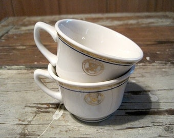 Two Homer Laughlin US Department of the Navy Cups