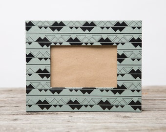 Gray and Black Alpine Picture Frame