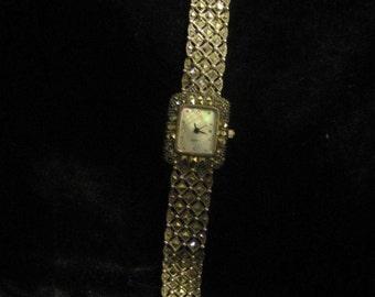 A Sterling silver Marcasite Quartz watch