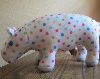 Polka Dot Plush Hippo
