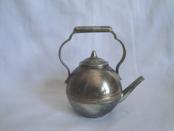 how to clean a metal teapot