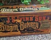 Vintage Advertising Bakery Box