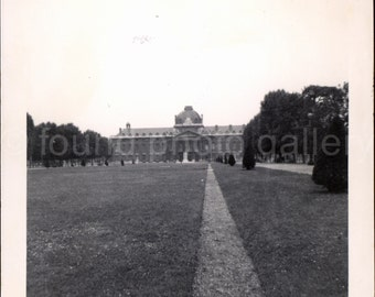 Vintage Photo, Versailles Palace, French Palace, Black & White Photo, Found Photo, Travel Photo, Vacation Photo, Snapshot