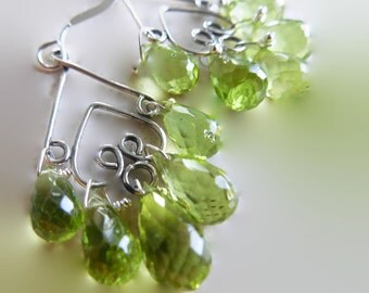 Peridot Dreamy Green Chandelier Earrings