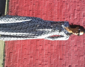 Maxi Wrap Dress Snakeskin