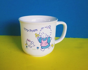 Vintage Tiny Poem Mug by Sanrio 1976  Rare - No Longer Made