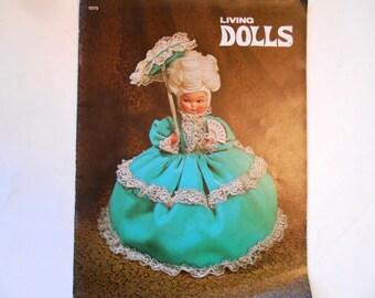 Living Dolls, a Vintage Craft Book, Harold Mangelsen and Sons, 1972
